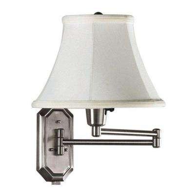 1-Light Brushed Steel Swing-Arm Lamp