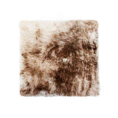 New Zealand Gradient Chocolate Sheepskin Chair Pad
