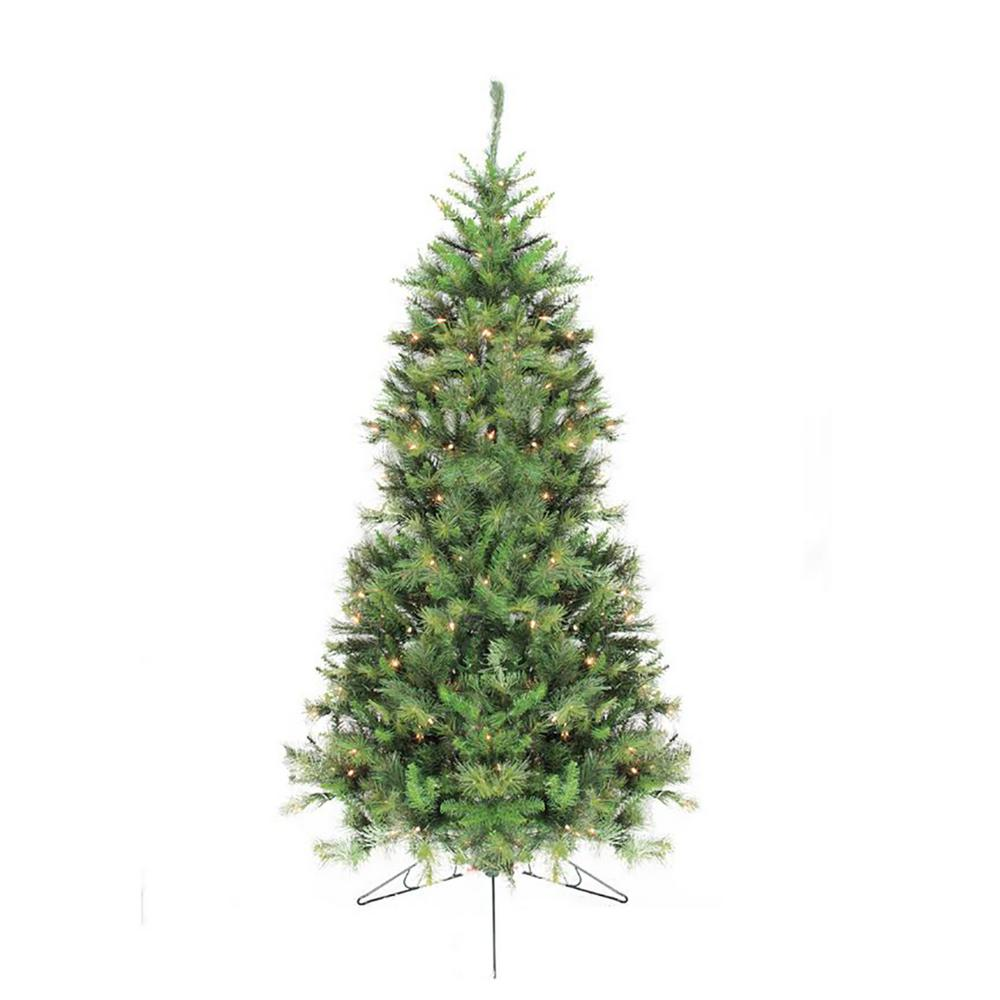 Pre Lit Half Christmas Tree: 7.5 Ft. Pre-Lit Canyon Pine Artificial Half Wall Christmas
