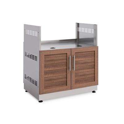 Natural Cherry 32 in. Insert Grill 32 in. W x 36.5 in. H x 23 in. D Outdoor Kitchen Cabinet