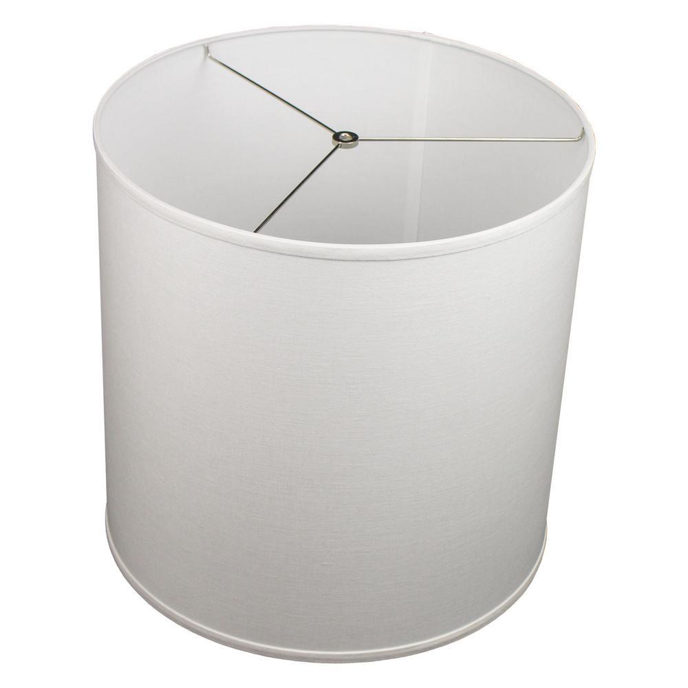 Fenchel Shades 18 in. Top Diameter x 18 in. Bottom Diameter x 18 in. Height Drum Lamp Shade - Designer Linen Off White