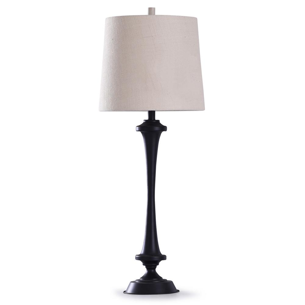 Stylecraft Chimney 37 5 In Black Candlestick Table Lamp
