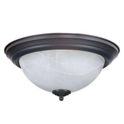 Millbridge 2-Light Oil Rubbed Bronze Ceiling Mount Light Fixture