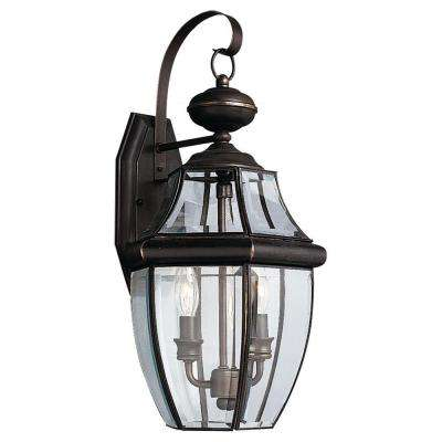 Lancaster 2-Light Antique Bronze Outdoor Wall Fixture