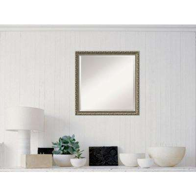 Parisian Silver Wood 23 in. W x 23 in. H Traditional Framed Mirror