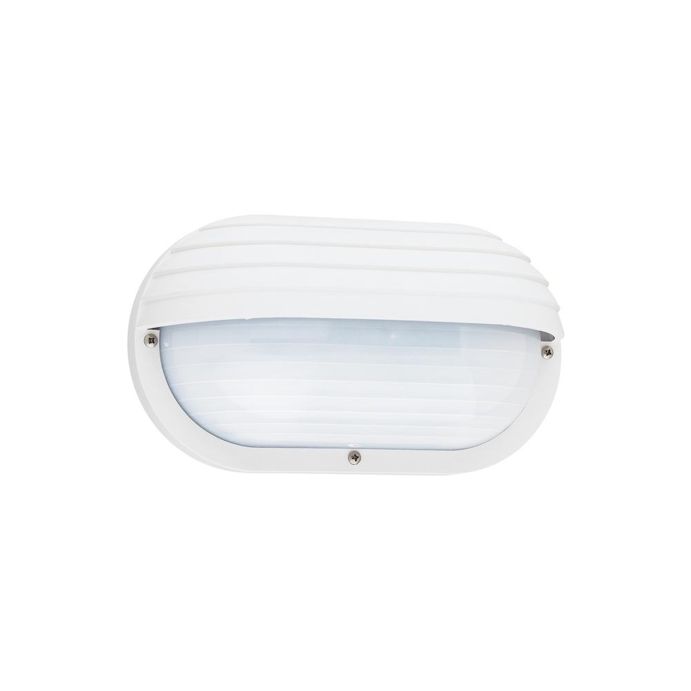 Bayside 1-Light White Outdoor Wall Mount Lantern