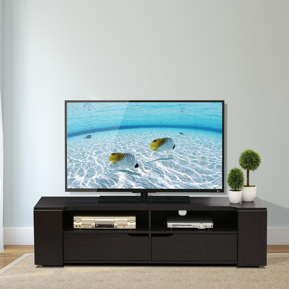 Furinno FVR Wenge 2-Drawers Entertainment Center-FVR7278WG - The ...
