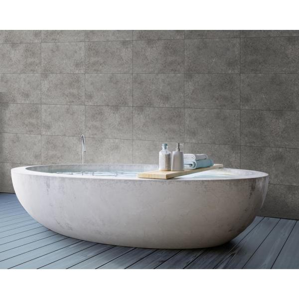Innovera Decor By Palram 15 7 In X 24 4 In Tongue Groove Decorative Pvc Bathroom And Shower Wall Tiles In Urban Cement Dark Gray 8 Piece 706013 The Home Depot