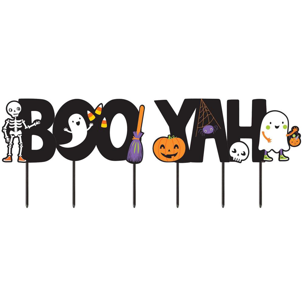 Halloween Boo-Yah Yard Signs