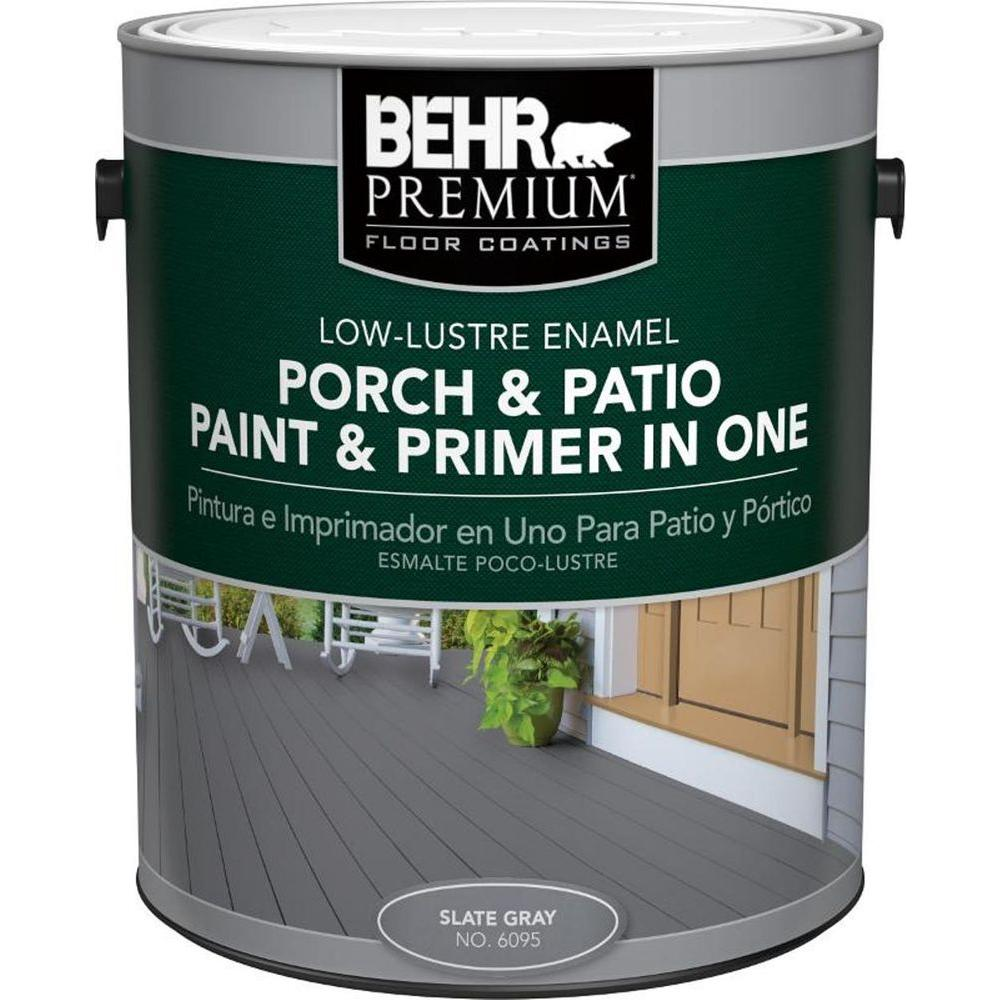 Behr Premium 1 Gal 6095 Slate Gray Low Re Interior Exterior Paint And