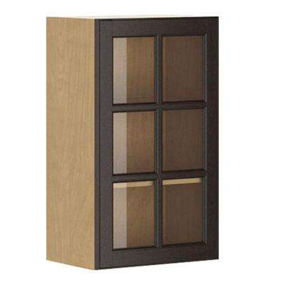 Naples Ready to Assemble 18 x 30 x 12.5 in. Wall Cabinet in Maple Melamine