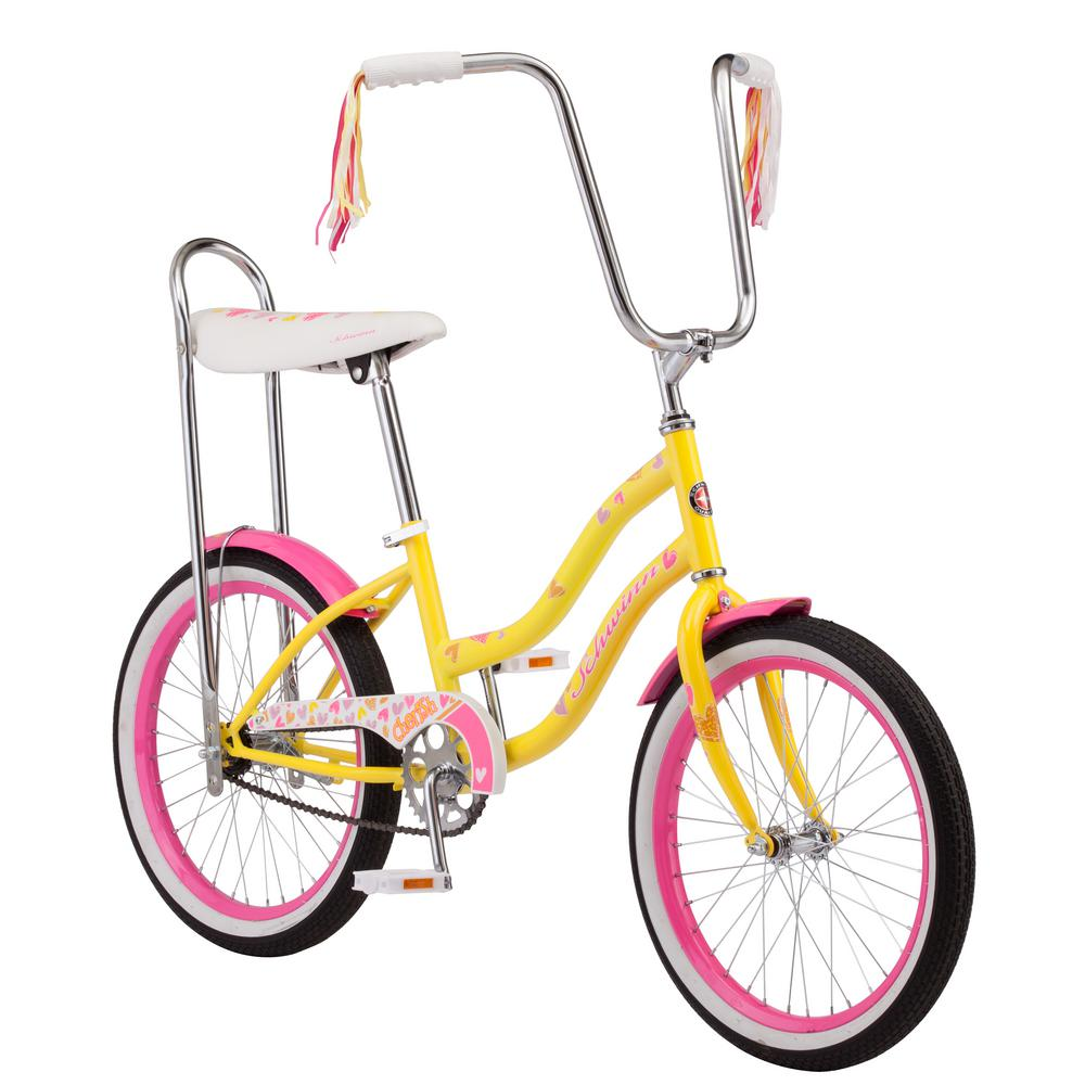 4b7c537263e Schwinn 20 in. Girl s Bike for Ages 10-Years and Up in Yellow ...