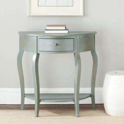 Jan Demilune French Grey Storage Console Table