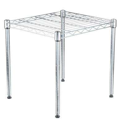 Supreme Shelving Collection 15 in. by 15 in. by 14 in. 1-Tier Metal Stacking Shelf in Chrome