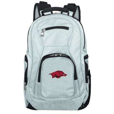 NCAA Arkansas Razorbacks 19 in. Gray Laptop Backpack