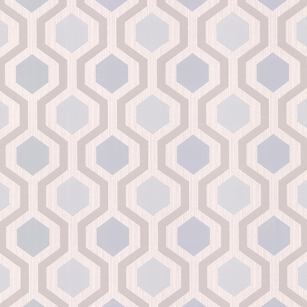 Brewster 56.4 sq. ft. Marina Grey Modern Geometric Wallpaper 347-20135