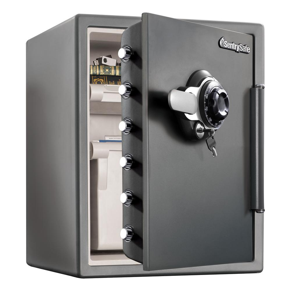 SentrySafe SFW205DPB 2 0 cu ft Fireproof Safe and Waterproof Safe with Dial  Combination