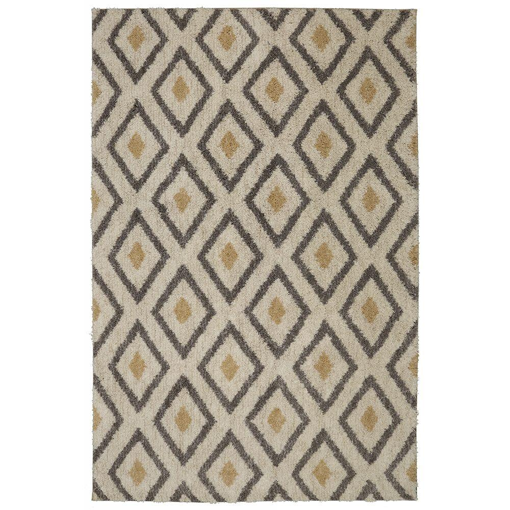Well-known Mohawk Home Tribal Diamond Tan 8 ft. x 10 ft. Area Rug-489281  GU87