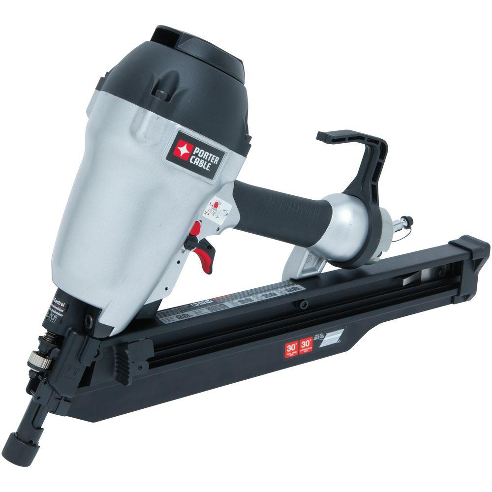 Porter Cable 3 1 2 In 30 Degree To 34 Degree Clipped Head Framing Nailer Fc350b The Home Depot