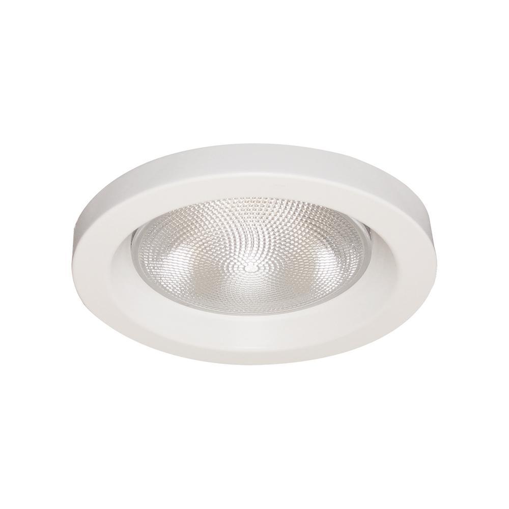 Thomas Lighting 6 In White Open Shower Recessed Trim