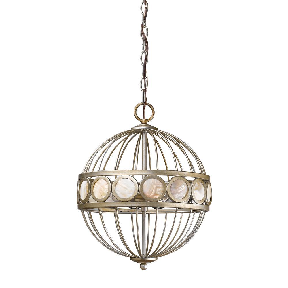 Acclaim Lighting Aria 3-Light Indoor Antique Silver Chand...