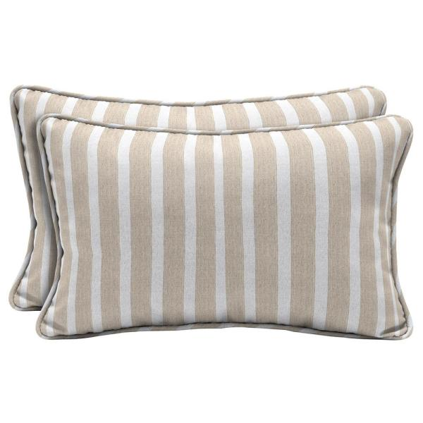 Home Decorators Collection Sunbrella Shore Linen Lumbar Outdoor Throw Pillow 2 Pack Ah23108b D9d2 The Home Depot