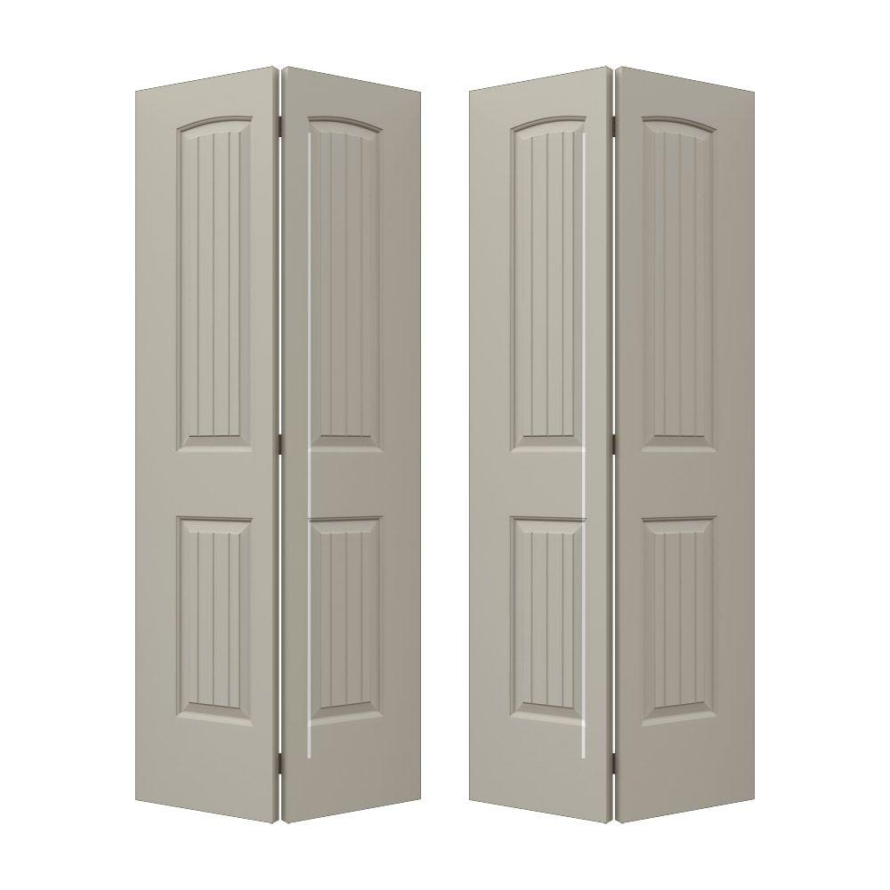 Santa Fe Desert Sand Painted Smooth Molded Composite MDF Closet Bi Fold Door THDJW160500119    The Home Depot