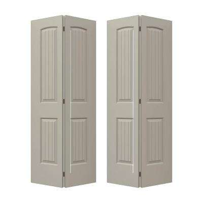 72 in. x 80 in. Santa Fe Desert Sand Painted Smooth Molded Composite MDF Closet Bi-fold Door