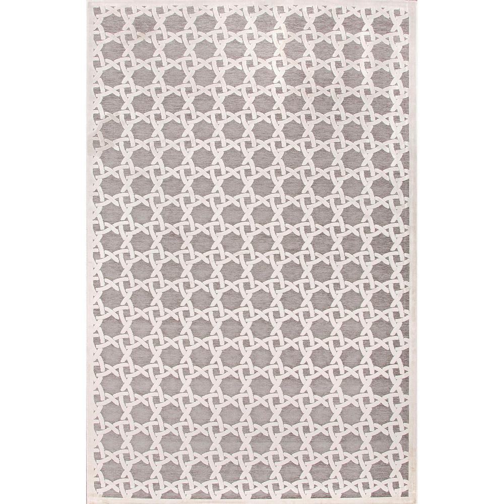 Fables White 2 ft. 6 in. x 8 ft. Trellis Runner Rug