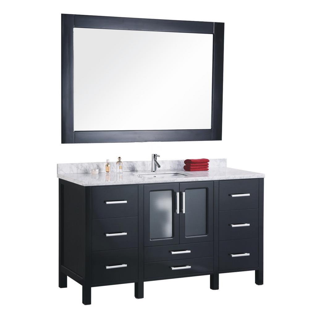Design Element Stanton 60 in. W x 22 in. D Vanity and Mirror in