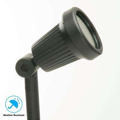 Low-Voltage 20-Watt Black Halogen Outdoor Landscape Flood Light