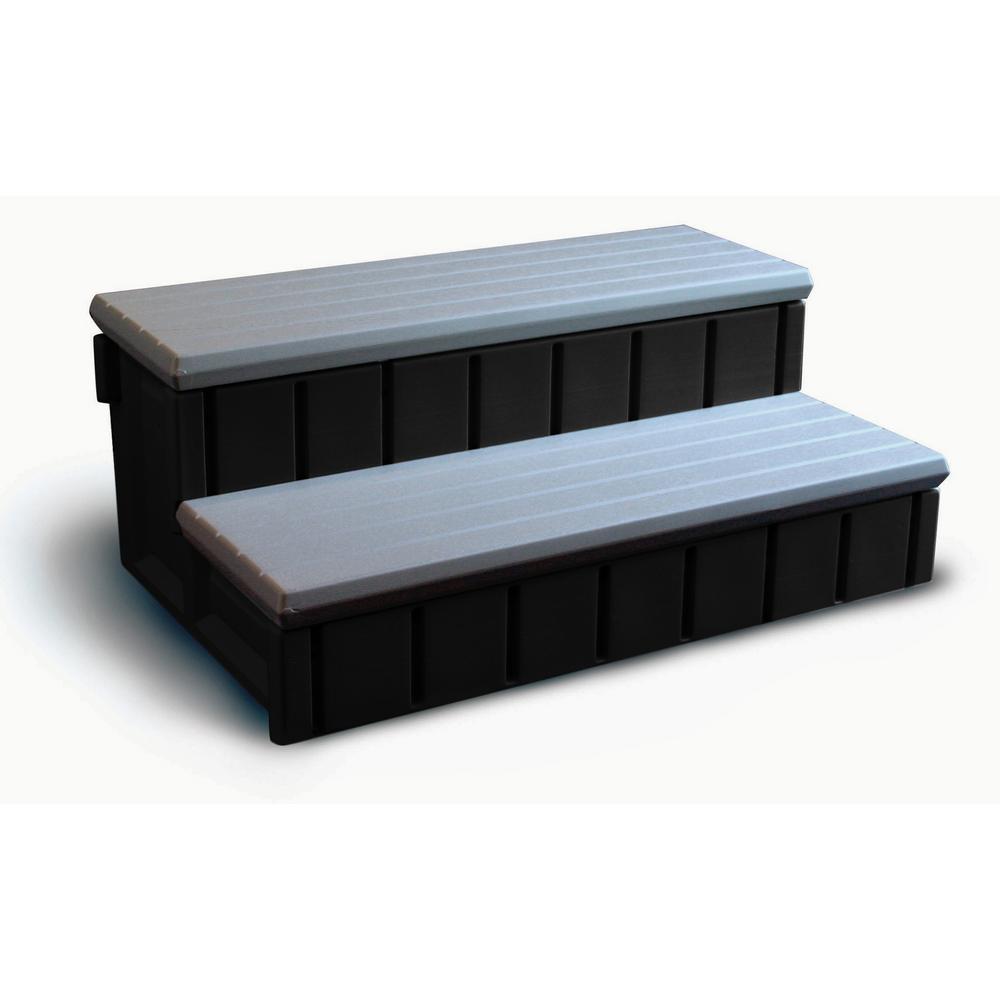 Spa Step with Gray Storage