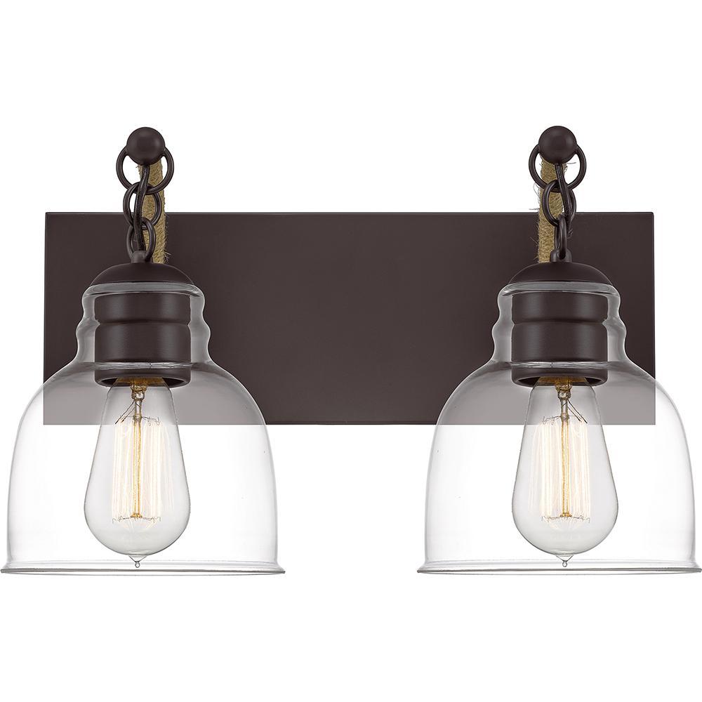 Bosun 2-Light Old Bronze Vanity Light