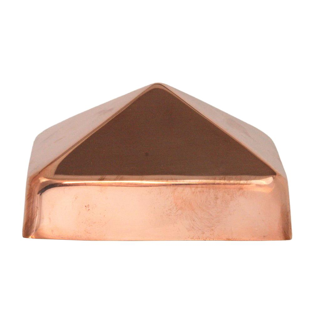 5 in. x 5 in. Copper (Brown) Pyramid Slip Over Fence Post...