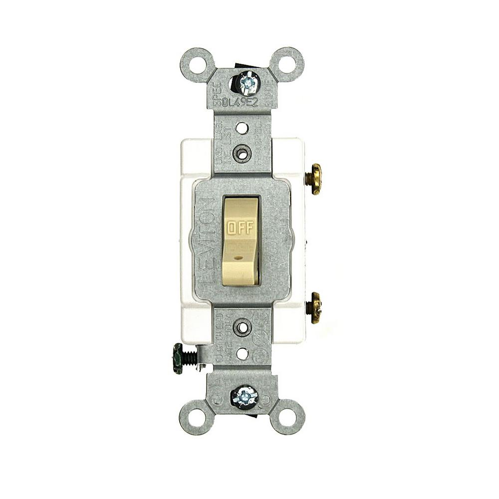 15 Amp Commercial Grade Single Pole Hospital Call Toggle Switch, Ivory