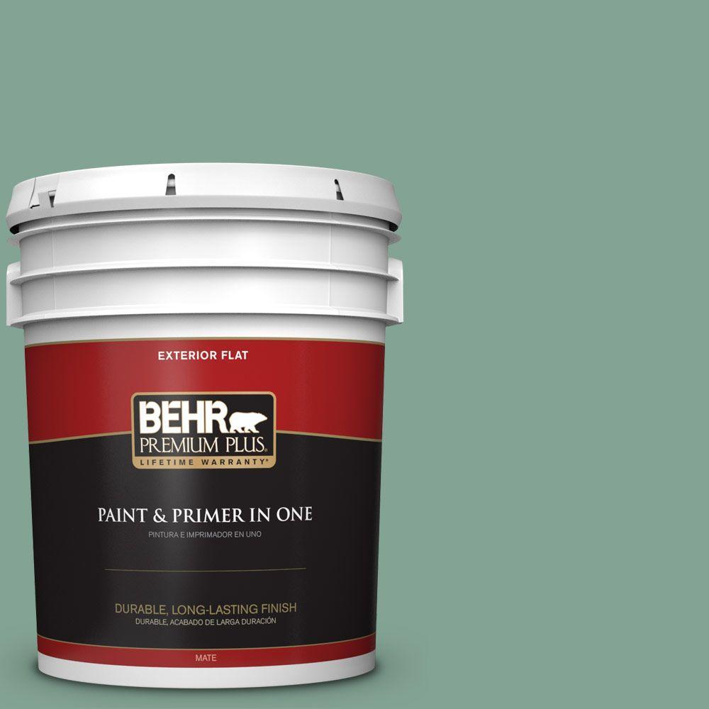BEHR Premium Plus 5-gal. #470F-4 Aspen Aura Flat Exterior Paint