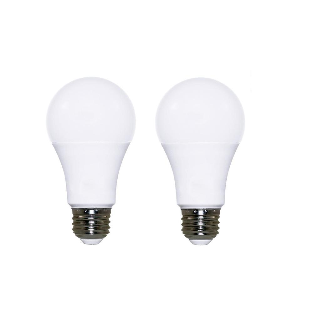 60W Equivalent Warm White (2700K) A19 Dimmable LED Light Bulb (2-Pack)