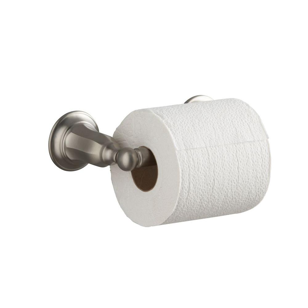 KOHLER Kelston Double Post Toilet Paper Holder in Vibrant Brushed Nickel