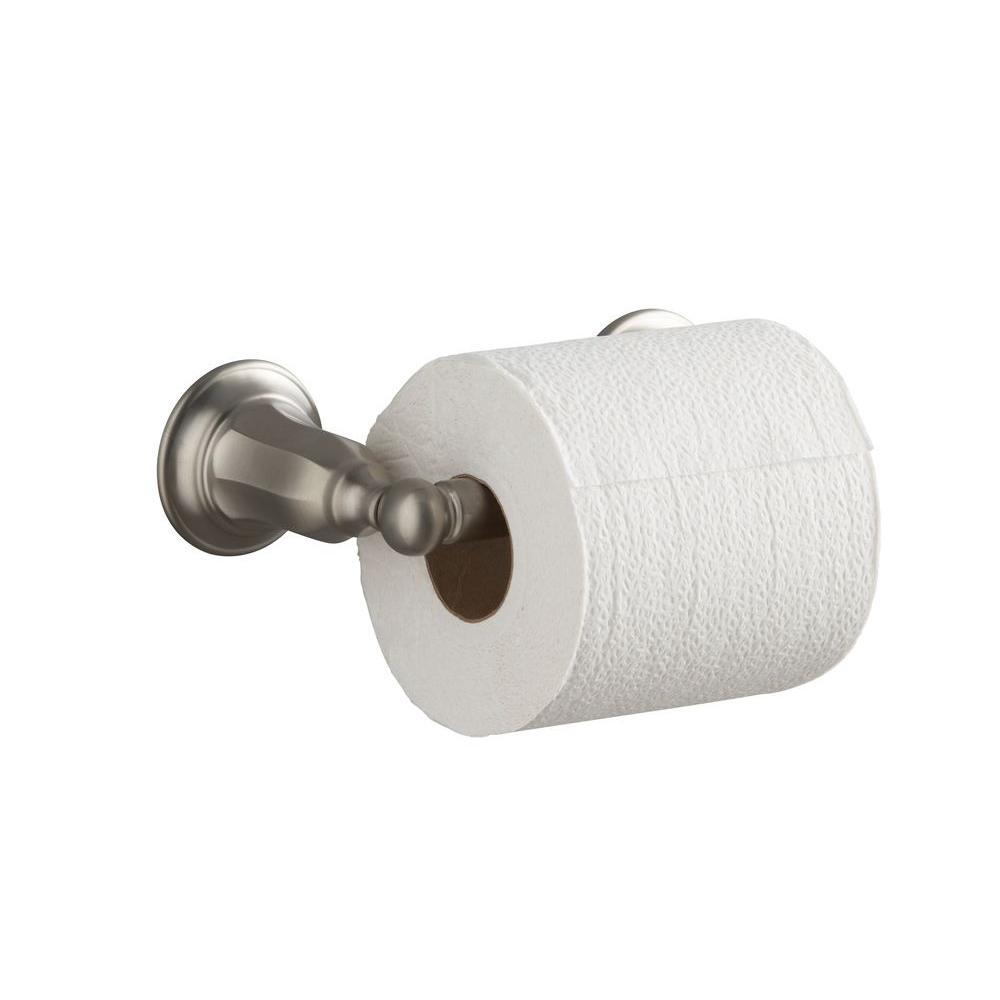 Kelston Double Post Toilet Paper Holder in Vibrant Brushed Nickel