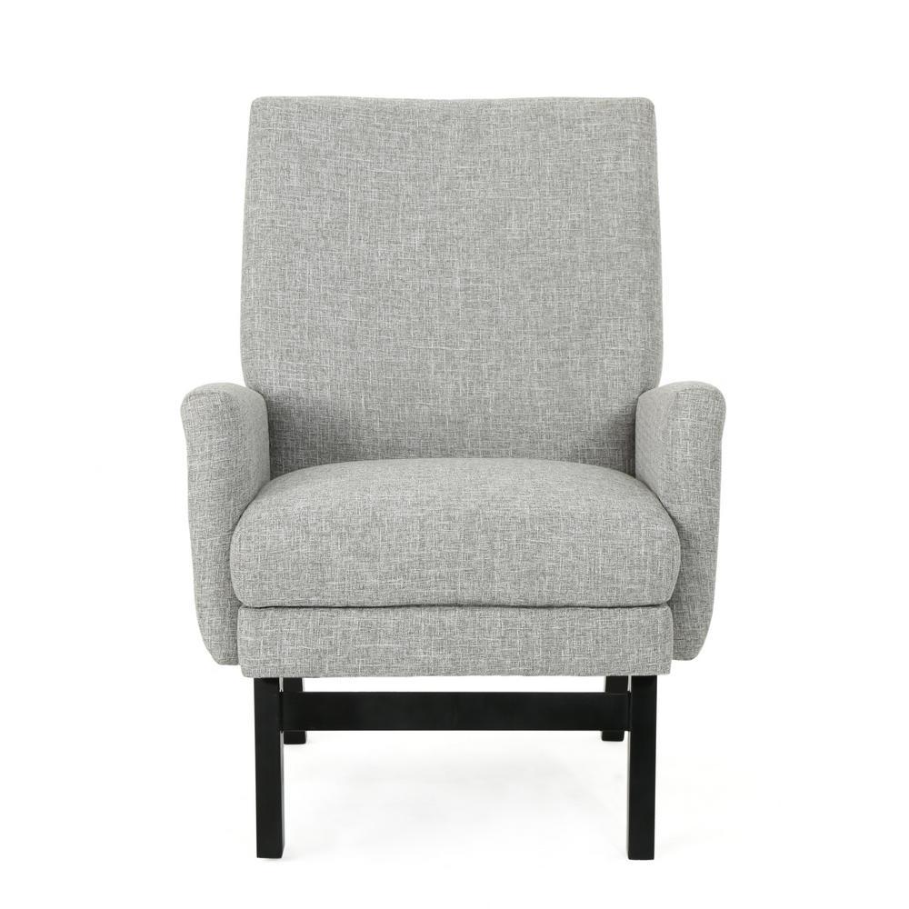 Maurya Contemporary Light Gray Fabric Armchair