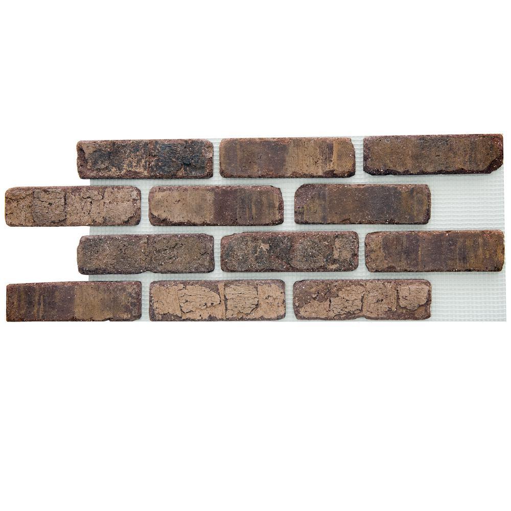 Old Mill Brick Brickwebb Cafe Mocha Thin Brick Sheets - Flats (Box of 5 Sheets) - 28 in. x 10.5 in. (8.7 sq. ft.)