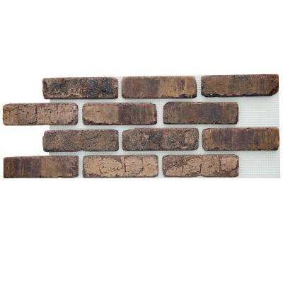 Brick Web Cafe Mocha 10-1/2 in. x 28 in. x 1/2 in. Clay Thin Brick Flats 8.7 sq. ft. (5-Box)