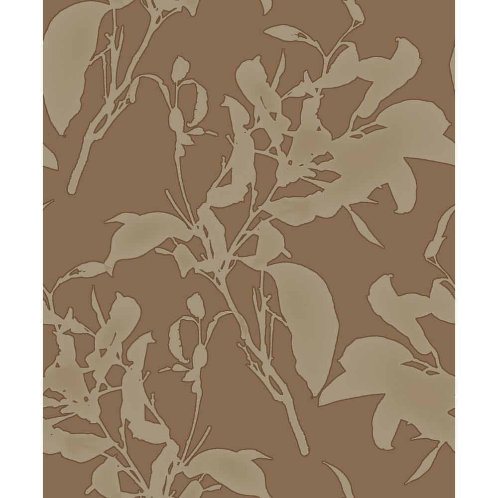 56.9 sq. ft. Botanical Silhouette Wallpaper