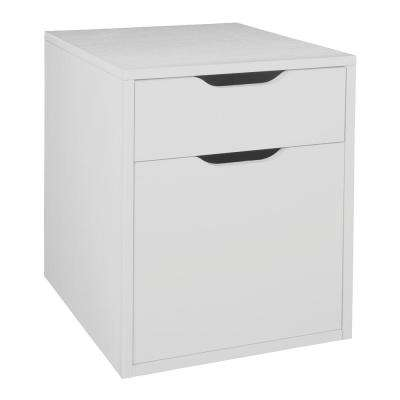 Mod White Wood Grain Freestanding Box File Pedestal With No Tools Embly