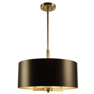 Hamilton Collection 3 Light Black And Gold Pendant
