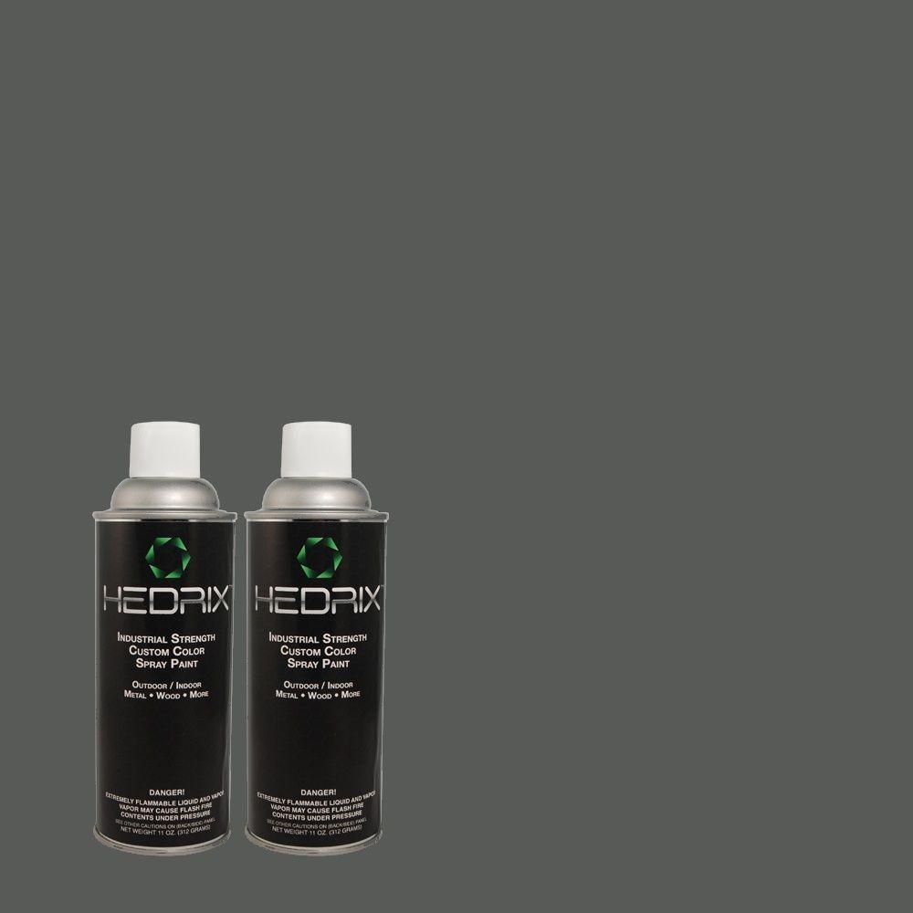 Hedrix 11 oz. Match of ECC-35-3 Thunder Bay Gloss Custom Spray Paint (2-Pack)