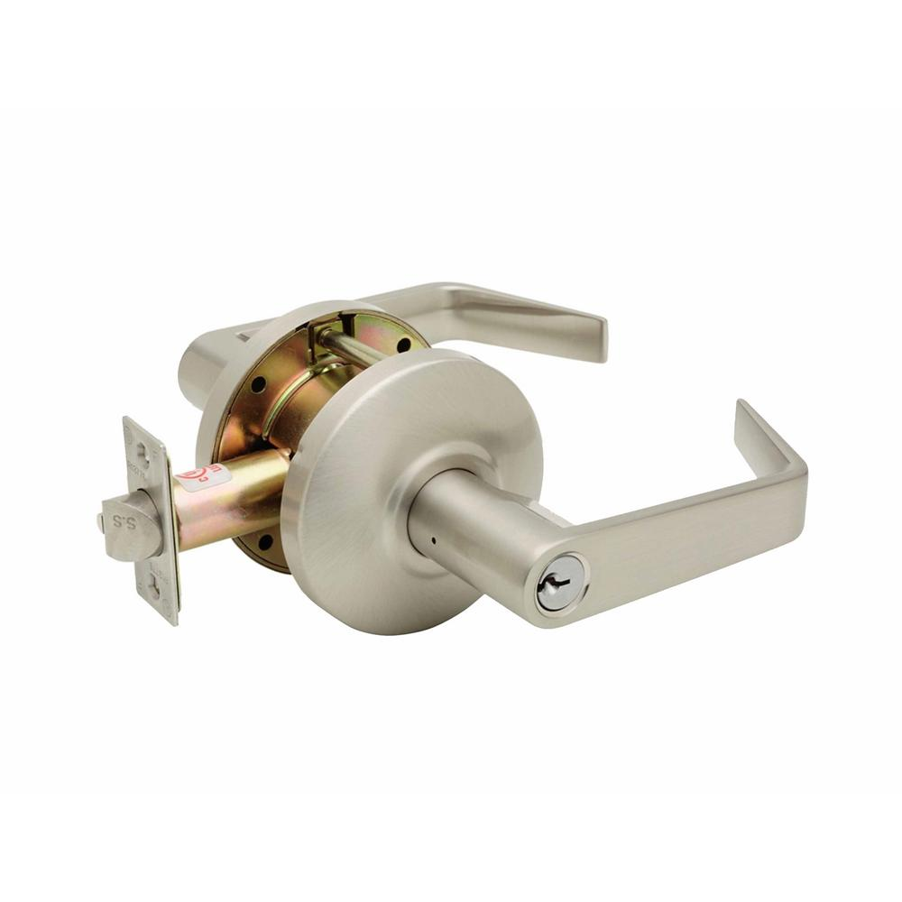 Copper Creek Grade 2 Satin Stainless Cylindrical Entry Door Lever