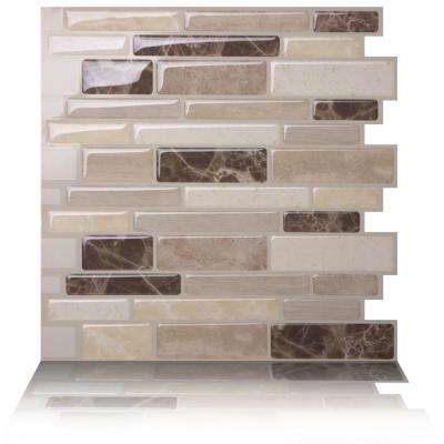 Polito Bella 10 in. W x 10 in. H Peel and Stick Decorative Mosaic Wall Tile Backsplash (5-Tiles)