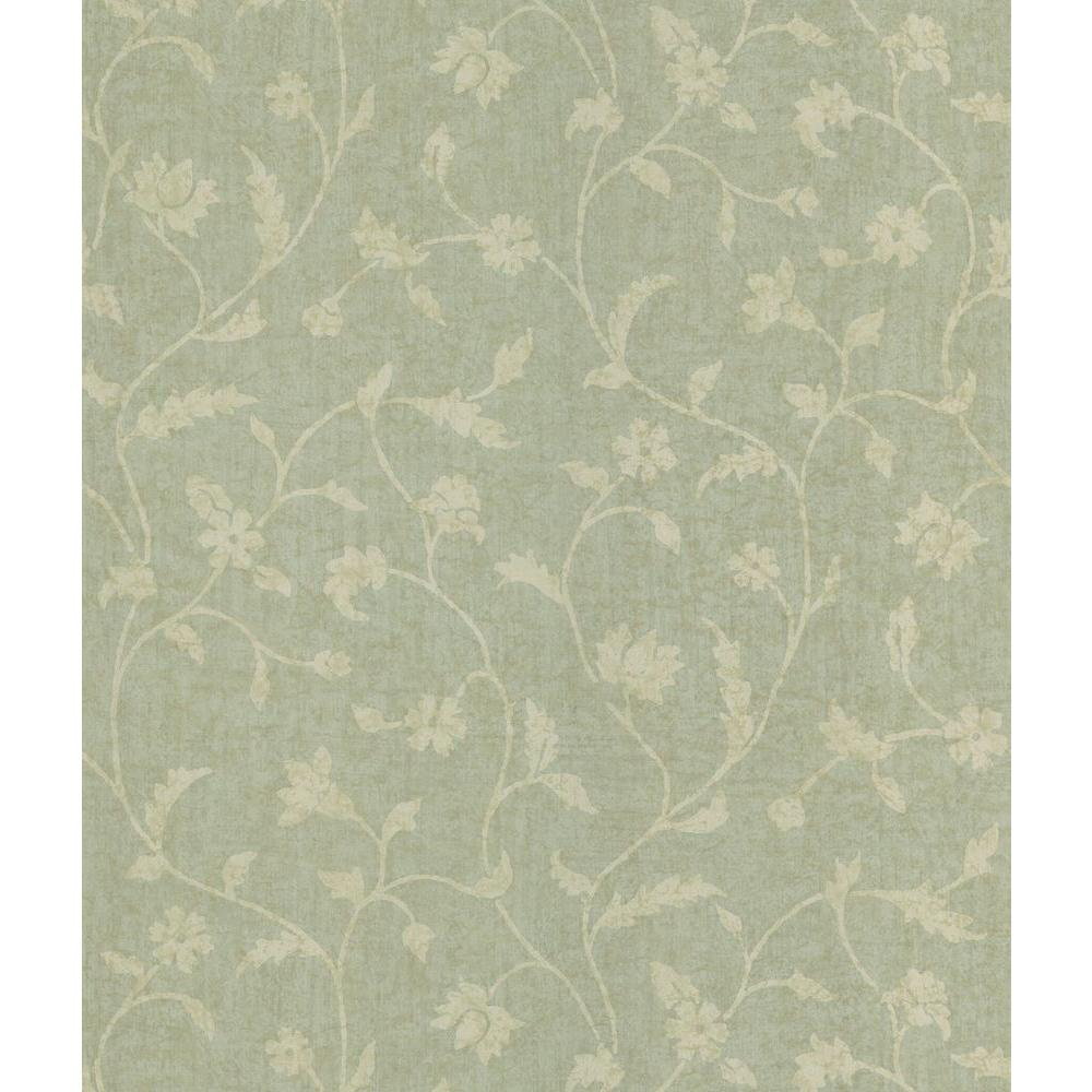 National Geographic 56 sq. ft. Batik Floral Trail Wallpaper