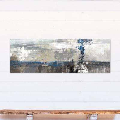 20 in. x 60 in. Gray Abstract Landscape Printed Canvas Wall Art